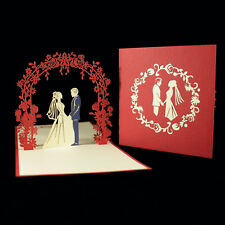 POP UP 3D card - Mr and Mrs Bride and Groom Wedding