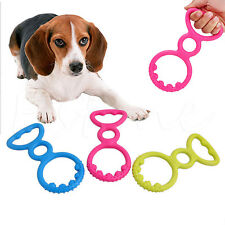 Rubber Pet Dog Puppy Cat Dental Teething Healthy Gums Clean Chew Play Toys Ring