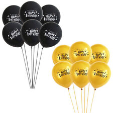 10x Harry Potter Gold Black Latex Balloons Happy Birthday Party Decoration 12""