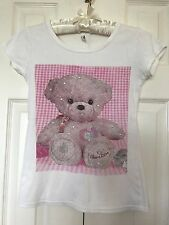 BLING Korean Fashion Teddy BEAR Choco LOVE Care Heart RHINESTONE TEE T-SHIRT Top