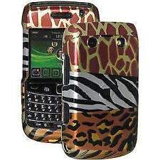 AMZER MULTI-ANIMAL PRINT SNAP ON HARD CASE BELT CLIP FOR BLACKBERRY BOLD 9780