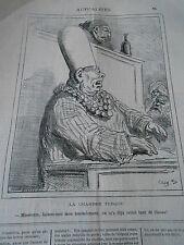 Caricature 1877  La Chambre Turc laissez moi mon amendement