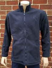 LADIES Soft Polyester Fleece Full Zip Large Jacket Navy Blue Two Pockets
