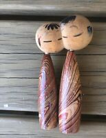 Rare Old Japanese Traditional Kokeshi Wooden doll Vintage Must See!!! 2 Heads!!