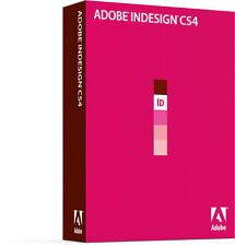 Adobe InDesign cs4 Version complète Windows IE english anglais TVA Box Retail