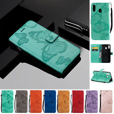 For Samsung M10 M20 S10 A20 A30 A40 A50 Wallet Butterfly Flip Leather Case Cover