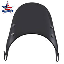 Black Universal Windshield Windscreen Motorcycle for 5-7'' Round Headlight USA