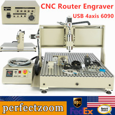 Usb 4axis Cnc 6090 Router Milling Drilling Engraving Diy Cnc Cutting Machine