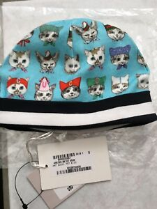 NWT 100% AUTH Gucci Baby Gucci Pets Print Cotton Beanie Hat 495759
