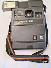 Vintage 1970's Kodak Colorburst 250 Instant Camara w flash Tested Collectable