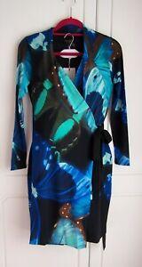 GORGEOUS TED BAKER ALVIRA BUTTERFLY WRAP DRESS - SIZE 2 (10) BNWT RRP £169!!