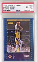 LeBron James 2019-20 Panini NBA Sticker & Card Collection Blue Foil /299 PSA 6
