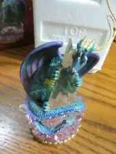Marjorie Sarnat San Francisco Music Box Musical Crystal Guardian Dragon Ornament