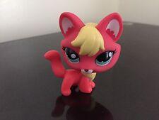 Littlest Pet Shop Fox # 2642 Pink Fox Blue Dot Eyes USA Seller