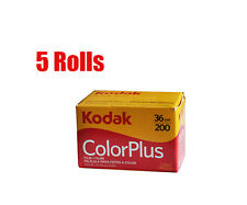 5 Rolls Kodak ColorPlus Color Plus 200 35mm 135-36 Negative Film Fresh 2020