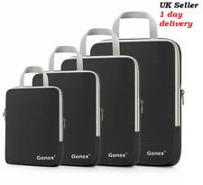 Gonex Compression Packing Cubes Extensible Organizer Bags Travel Suitcase Zip
