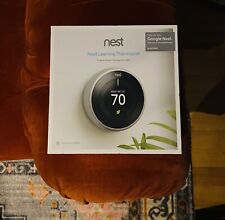 BRAND NEW GOOGLE NESTLEARNING THERMOSTAT 3RD GEN - T3007ES STAINLESS STEEL