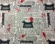 "THE SHINING TYPEWRITER STEPHEN KING HORROR MOVIE COTTON FABRIC FQ 18""x21"" -"