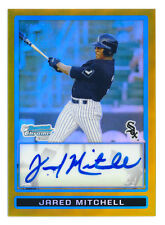 2009 BOWMAN CHROME DRAFT JARED MITCHELL RC GOLD REFRACTOR AUTO WHITE SOX #15/50