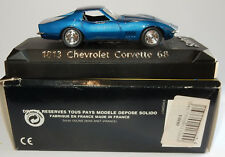 MADE IN FRANCE SOLIDO CHEVROLET CORVETTE 68 REF 1813 IN BOX