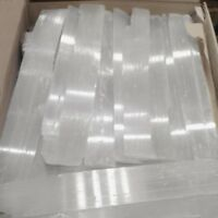 "LOT lbs XL Selenite Logs "" Wand Rough Crystal Sticks Heal 5 POUND BULK WHOLESALE"