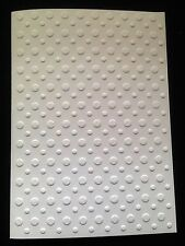 5 Blank A6 White Embossed Cards/Envelopes/Sleeves - Large Dots -  All Occasions