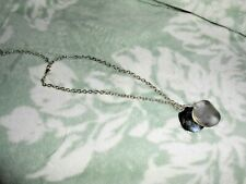 Silver colored chain with 2 disk pendants lobster clasp