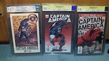Marvel Captain America #25 cgc 9.8 both cover with Marvel Knight #1 Death of Cap