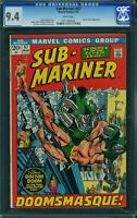 SUB-MARINER #47 CGC 9.4 Vs Dr Doom! White Pages!