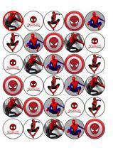 30 x Cup Cake Edible Birthday Cake Topper Edible Rice Paper Spiderman Superhero