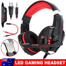 EACH 3.5mm Gaming Headset Mic LED Headphones G9000 for Mac Laptop Ps4 Xbox One