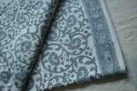 3 Yard Indian Hand Block Floral Fabric 100%Cotton Women Dress Voile Fabric *