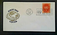 1960 United Nations New York World Refugee Year Illustrated  First Day Cover