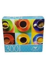 300 Piece Jigsaw Puzzle Colorful Coffee Cups - Cardinal New & Factory Sealed!!