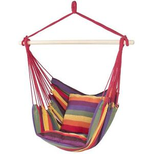 Hanging Hammock Chair Seat Rope Tree, Portable Comfortable Camping Outdoor Porch