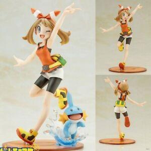 May (Haruka) and Mudkip Pokemon Trainer Collectible Statue Action Figure Model