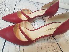 Nine West Red D'Orsay Heel Pumps, Size 7.5
