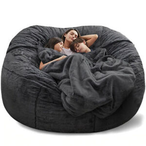 Giant Bean Bag Bed Slipcover Case Floor Seat Couch Futon Lazy Sofa Recliner