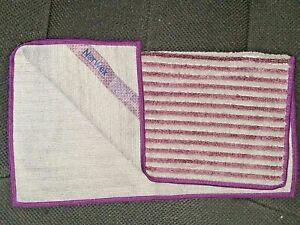 NEW 1 NorwexFace & BODY TOWEL ONE CLOTH Graphite lavender stripe purple set