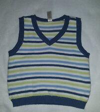 Boys George Striped Sweater Vest Size 4T
