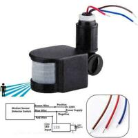 ED Outdoor 110-220V Infrared PIR Motion Sensor Detector Light 1 Wall K7I1 F3M6