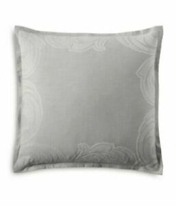 "Hudson Park Collection Modern Scroll EURO Pillowsham - Light Gray- 28""x28"""