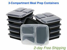 Meal Prep Containers Food Storage Lid 3 Compartment BPA Free Plastic Lunch Boxes