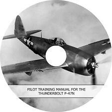 Republic P-47 P-47N Thunderbolt Pilot Training Manual (1945) Book on CD