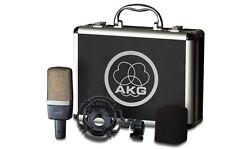 AKG C214 condensor studio mic w/mount & case C-214 Factory Sealed Retail Box