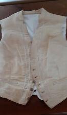 Vêtement ancien : Gilet en soie,  brodé, boutons d'origine - XIXème