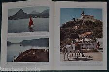 1939 magazine article about RIO DE JANEIRO, history people Carnival color photos