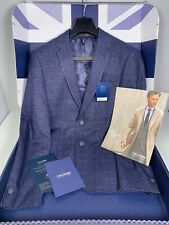 Mens T M Lewin Navy Springsteen Blue Suit Blazer 40 Regular - fit RRP £95 Boxed