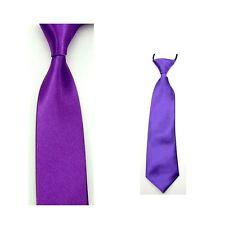 Mens Kids Boys Skinny Tie Set Child Fashion Solid Color Satin Necktie Neckwear