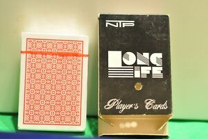 Pack of NTP Long Life 100% PVC Blackjack Playing Cards (wide, Jumbo index)